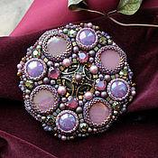 """Украшения handmade. Livemaster - original item """"Violetta"""" - Brooch with rhinestones and pearls. Handmade."""