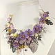 Fairy Lilac Garden. necklace with removable floral decoration. Necklace. ms. Decorator. Online shopping on My Livemaster.  Фото №2