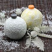 Мыло ручной работы. Ярмарка Мастеров - ручная работа Мыло новогоднее объемное Елочный шар. Handmade.