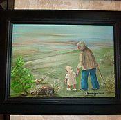 """Картины ручной работы. Ярмарка Мастеров - ручная работа Картина """"Неспешная прогулка"""" Chammatowa 1975г.. Handmade."""