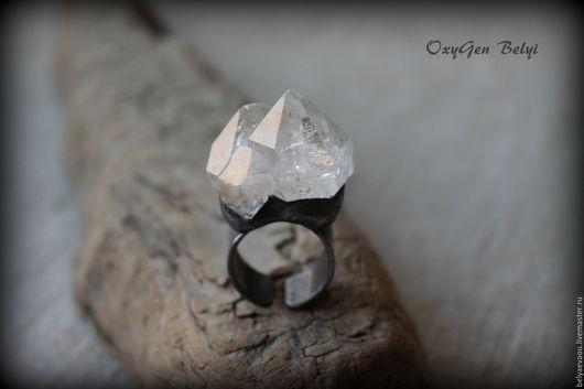 """Кольца ручной работы. Ярмарка Мастеров - ручная работа. Купить Кольцо """"Herkimer Diamond"""". Handmade. Herkimer diamond, этно, херкимер"""