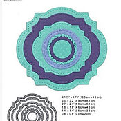 Материалы для творчества handmade. Livemaster - original item A KNIFE to cut Elizabeth Craft Designs Labels&Circles - 6 pcs in set. Handmade.
