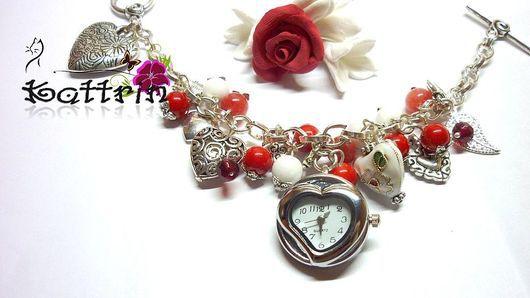 """Часы ручной работы. Ярмарка Мастеров - ручная работа. Купить Часы-браслет """"Секрет 11 Сердец"""". Handmade. Часы, основа"""