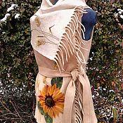 """Одежда ручной работы. Ярмарка Мастеров - ручная работа Валяный жилет-трансформер """"Солнце среди зимы"""". Handmade."""