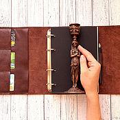 Канцелярские товары handmade. Livemaster - original item Notepad A5 organiser brown. Handmade.