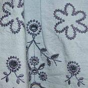 Винтажная одежда ручной работы. Ярмарка Мастеров - ручная работа Винтажная одежда: Голубой топ с вышивкой Denny Rose. Handmade.