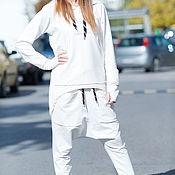 Одежда handmade. Livemaster - original item White Hooded Sports set. Handmade.