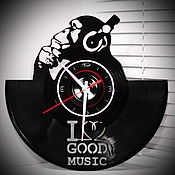 Для дома и интерьера handmade. Livemaster - original item Watch from vinyl records: I love music. Gift music lover.. Handmade.