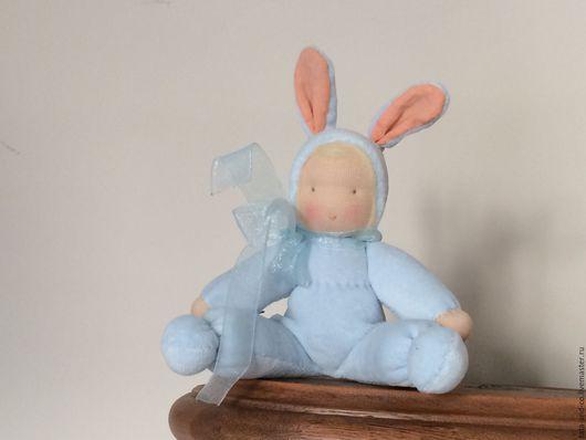 Вальдорфская игрушка ручной работы. Ярмарка Мастеров - ручная работа. Купить Зайка ждет свою хозяйку, вальдорфская игрушка. Handmade.