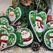 Сувениры и подарки handmade. Livemaster - original item Christmas toys of felt