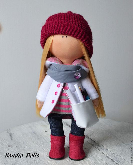 Куклы тыквоголовки ручной работы. Ярмарка Мастеров - ручная работа. Купить Николь. Handmade. Фиолетовый, кукла для девочки