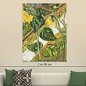Картины и панно handmade. Livemaster - original item Oil painting flowers Sunflowers 60H80. Handmade.