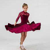 Работы для детей, handmade. Livemaster - original item Juvenal (basic) dress for ballroom dancing PUNCH. Handmade.