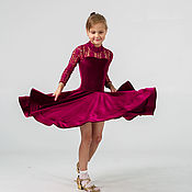 """Работы для детей, ручной работы. Ярмарка Мастеров - ручная работа Рейтинговое платье (Бейсик) для бальных танцев """"Punch"""". Handmade."""