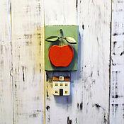 """Картины и панно ручной работы. Ярмарка Мастеров - ручная работа панно в стиле кантри """"Яблоневый сад"""". Handmade."""