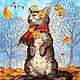 """Набор для вышивки бисером """"Осенний ветерок"""", Наборы для вышивания, Москва,  Фото №1"""