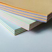 Материалы для творчества ручной работы. Ярмарка Мастеров - ручная работа Блок для блокнота А5 двухцветный. Handmade.