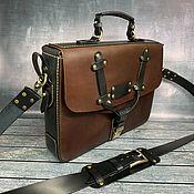 Сумки и аксессуары handmade. Livemaster - original item Men`s leather briefcase. Handmade.