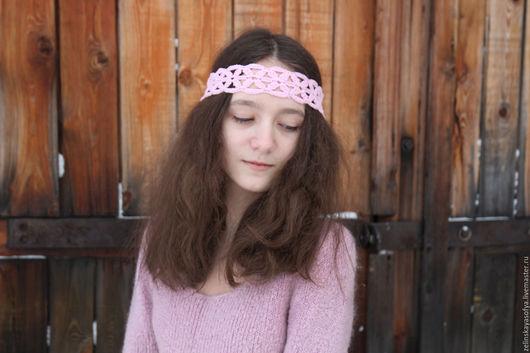 Повязки ручной работы. Ярмарка Мастеров - ручная работа. Купить Нежные повязочки. Handmade. Розовый, подарок девушке, хлопок