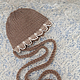 Шапки и шарфы ручной работы. Ярмарка Мастеров - ручная работа. Купить Детская шапочка для девочки, шапочка для фотосессии новорожденного. Handmade.