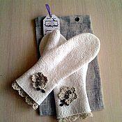 Аксессуары handmade. Livemaster - original item Felted mittens.. Handmade.
