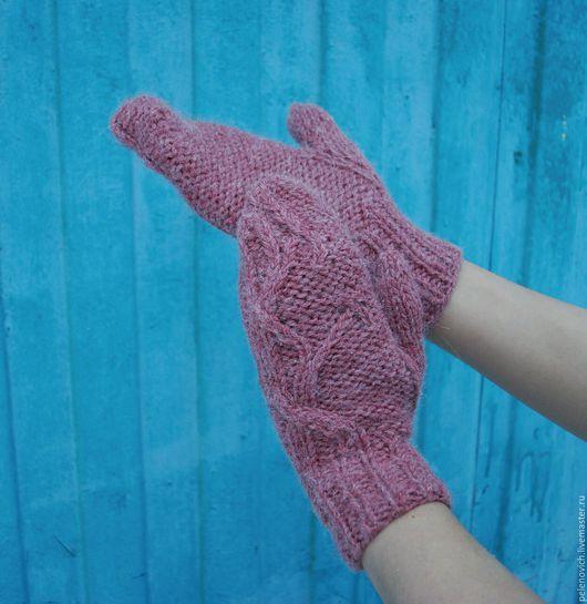 Варежки, митенки, перчатки ручной работы. Ярмарка Мастеров - ручная работа. Купить Варежки из альпаки. Handmade. Варежки, варежки женские
