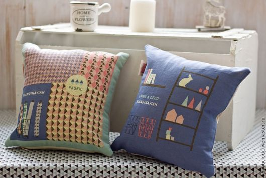 Текстиль, ковры ручной работы. Ярмарка Мастеров - ручная работа. Купить Декоративная подушка Скандинавия (мини). Handmade. Подушка
