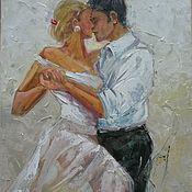 Картины и панно ручной работы. Ярмарка Мастеров - ручная работа Танцующая пара -картина мастихином подарок девушке. Handmade.