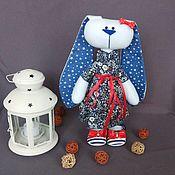 Мягкие игрушки ручной работы. Ярмарка Мастеров - ручная работа Зайка-девочка. Handmade.