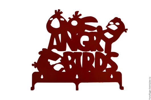 """Прихожая ручной работы. Ярмарка Мастеров - ручная работа. Купить Вешалка """"Angry Birds"""". Handmade. Вешалка, интерьер, декор для интерьера"""
