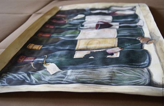 Натюрморт ручной работы. Ярмарка Мастеров - ручная работа. Купить In vino veritas. Handmade. Разноцветный, акварель, поталь
