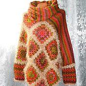 Одежда handmade. Livemaster - original item Poncho sweater Snood. A harmony of colors. Bilateral poncho. Handmade.