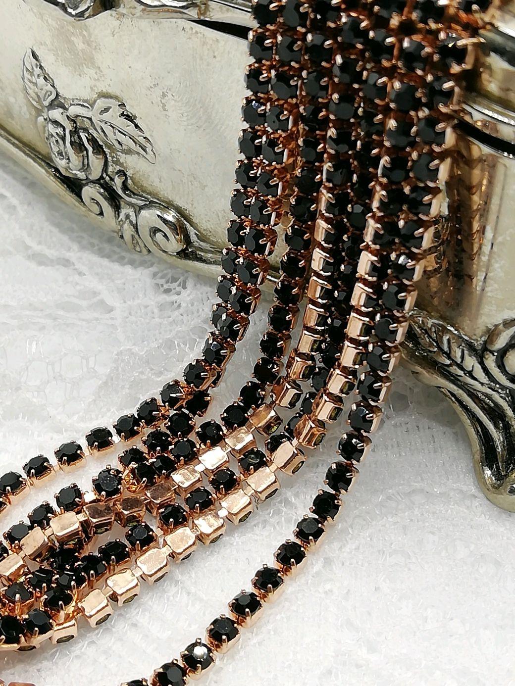 Strass cinta negro Jet 2mm, Chains, St. Petersburg,  Фото №1