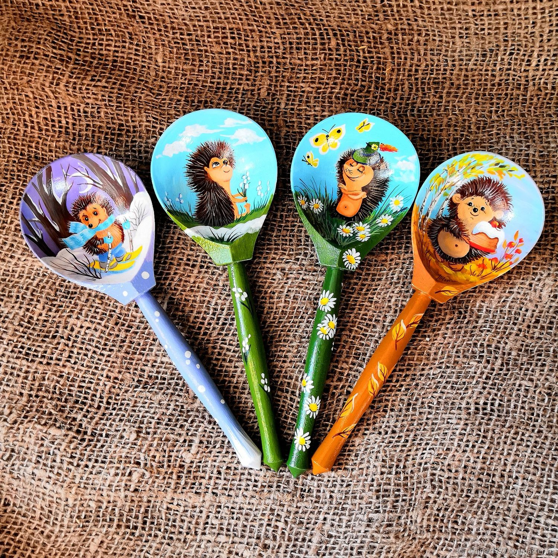 Wooden spoons gift set hedgehogs, Spoons, Zmeinogorsk,  Фото №1