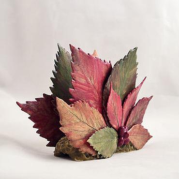 Для дома и интерьера ручной работы. Ярмарка Мастеров - ручная работа Дикий виноград осенью - салфетница. Handmade.