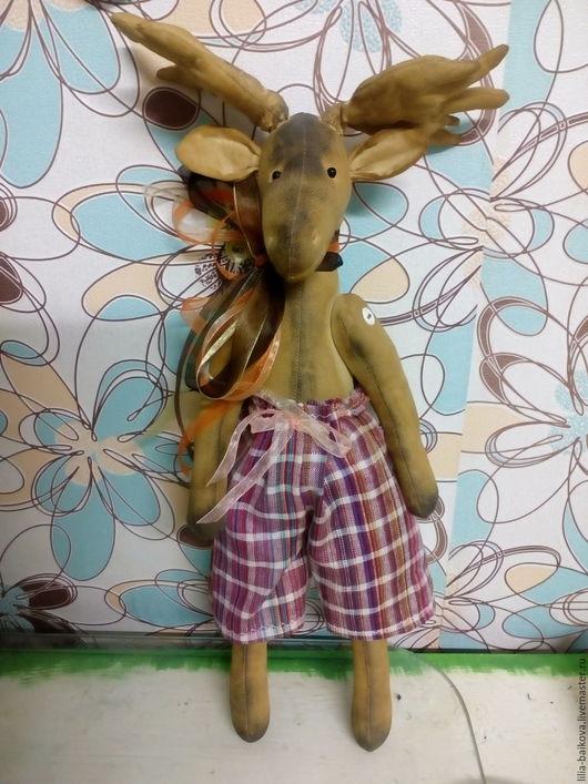 Ароматизированные куклы ручной работы. Ярмарка Мастеров - ручная работа. Купить Лосяш. Handmade. Бежевый, чердачная игрушка, кофейный, корица