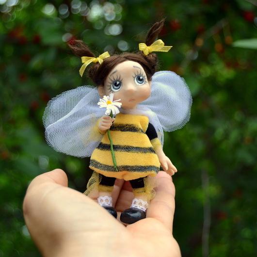 Коллекционные куклы ручной работы. Ярмарка Мастеров - ручная работа. Купить Тютелька Жужа (9,5 см). Handmade. Желтый