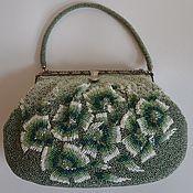Сумки винтажные ручной работы. Ярмарка Мастеров - ручная работа Бисерная сумка зеленая. Handmade.