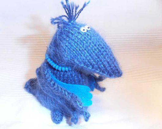 Игрушки животные, ручной работы. Ярмарка Мастеров - ручная работа. Купить Вязаная Синяя птица. Handmade. Птица, синий
