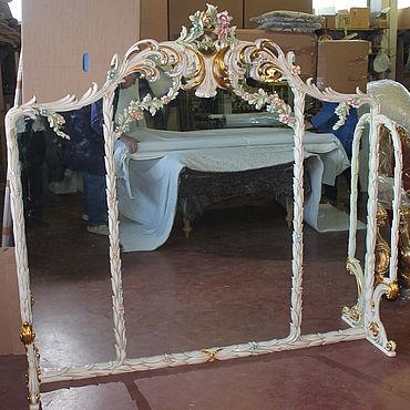 Для дома и интерьера ручной работы. Ярмарка Мастеров - ручная работа Зеркало из дуба (№038). Handmade.