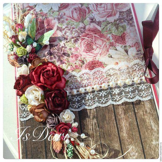 """Открытки для женщин, ручной работы. Ярмарка Мастеров - ручная работа. Купить Большая открытка ручной работы  """"Розы"""". Handmade."""