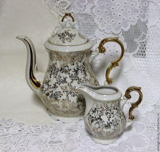 Винтажная посуда. Ярмарка Мастеров - ручная работа. Купить Фарфоровый набор, чайник и молочник, Германия, 1950-е г.г.. Handmade.