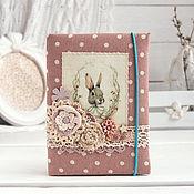 "Канцелярские товары handmade. Livemaster - original item Блокнот ""Белый кролик"". Handmade."