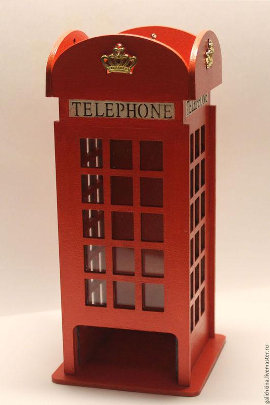 Кухня ручной работы. Ярмарка Мастеров - ручная работа. Купить Чайный домик Английская телефонная будка.. Handmade. Ярко-красный