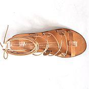 """Обувь ручной работы. Ярмарка Мастеров - ручная работа Кожаные сандалии """"Спартанские"""" с ремешком через пальцы. Handmade."""