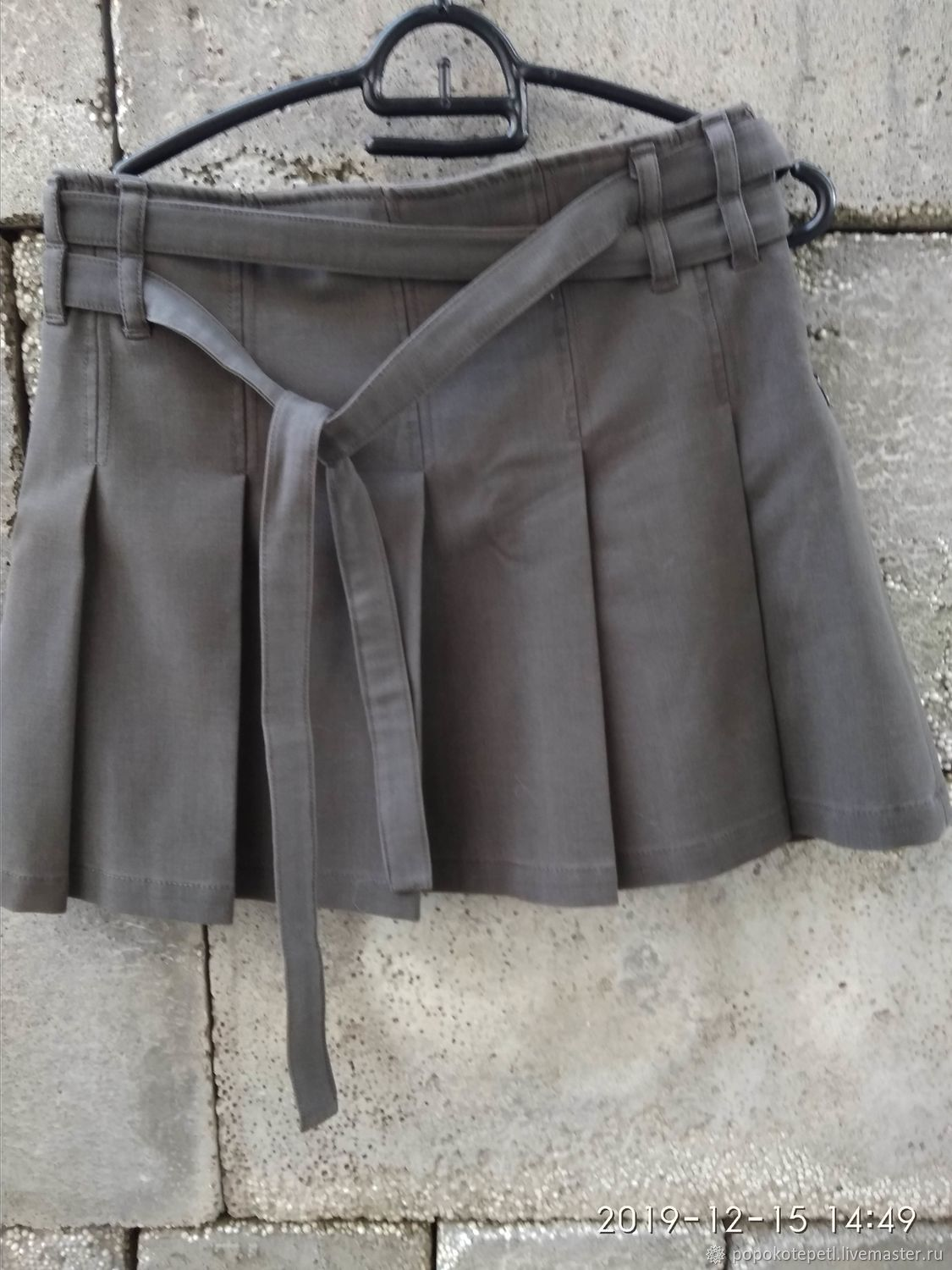 pleated skirt, wool with polyester, Romania, Vintage clothing, Novorossiysk,  Фото №1