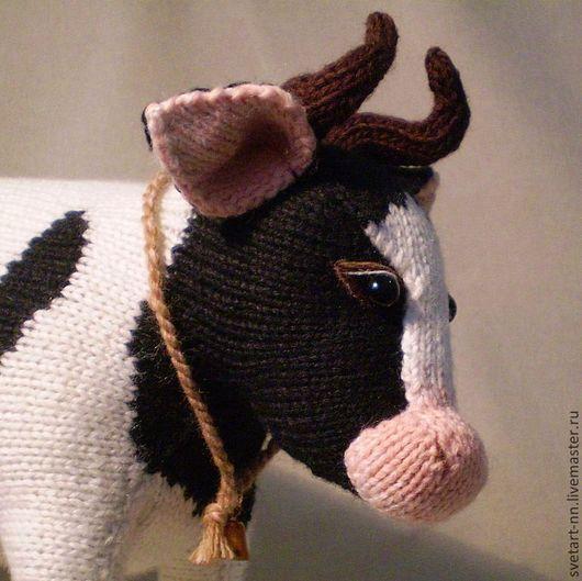Игрушки животные, ручной работы. Ярмарка Мастеров - ручная работа. Купить Корова. Handmade. Чёрно-белый, деревня