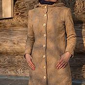 Одежда ручной работы. Ярмарка Мастеров - ручная работа Утепленное пальто с капюшоном. Handmade.