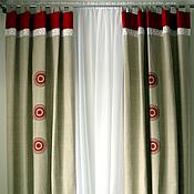 Для дома и интерьера ручной работы. Ярмарка Мастеров - ручная работа Льняные шторы Кадриль. Handmade.