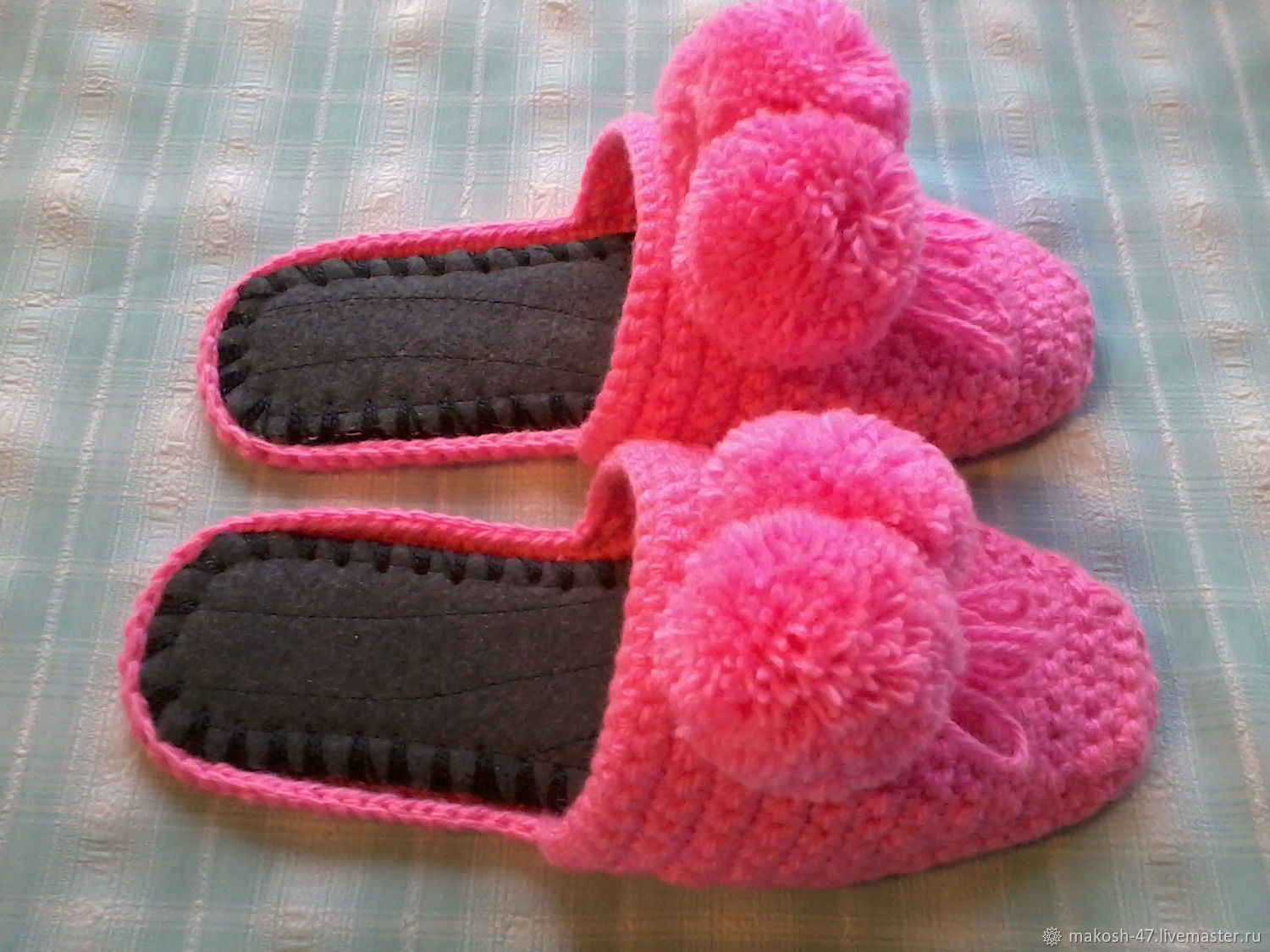 Knitted house Slippers - flip flops ( the wool ), Slippers, Vyazniki,  Фото №1